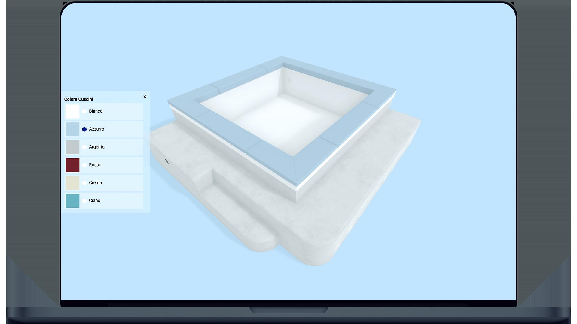 Configura ora i cuscini della tua piscina
